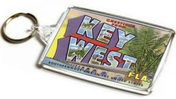 Greetings From Key West Jumbo Keyring. Florida